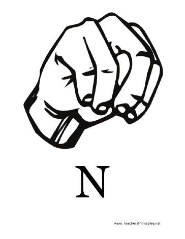 how to sign letters in asl diagram of a signing the letter n along with the 17388
