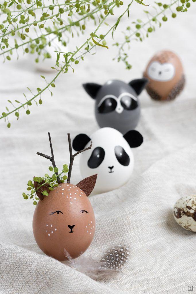 tierische ostern eierkopf wildtiere ostern diy deko. Black Bedroom Furniture Sets. Home Design Ideas