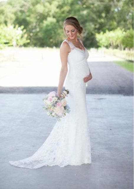 20 Elegant Wedding Dresses For Pregnant Brides Pregnant Wedding Dress Wedding Dresses Pregnant Brides Pregnant Bride