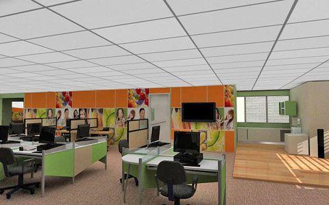 Modern office interior design boris stratievsky chicago - Commercial interior design chicago ...