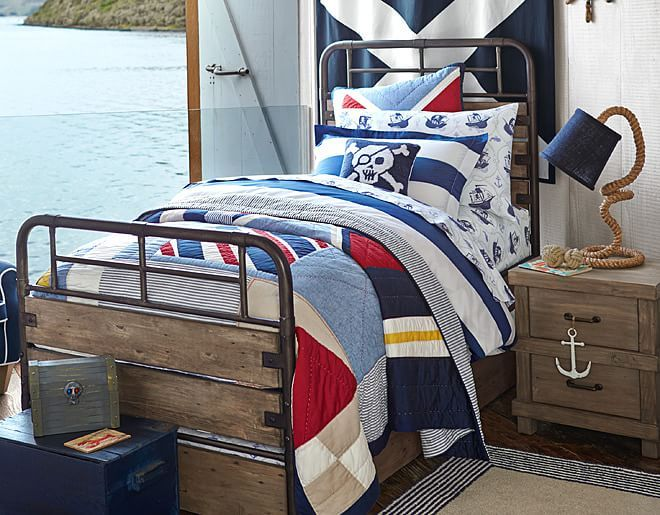 I Love The Pottery Barn Kids Pirate Bedroom On Potterybarnkidscom - Kids pirate bedroom furniture