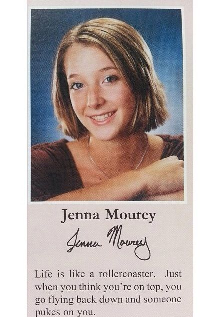 Jenna mourey, yearbook...