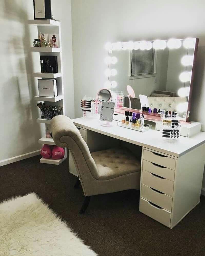 attractive Ikea Vanity Room Part - 1: Makeup Desk, Makeup Rooms, Makeup Storage, Makeup Organization, Vanity Room,  Vanity