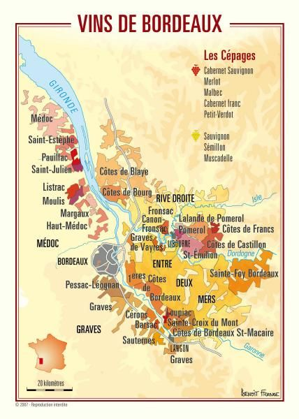Bordeaux Wine Map By Omni Resources Wine Map France Wine