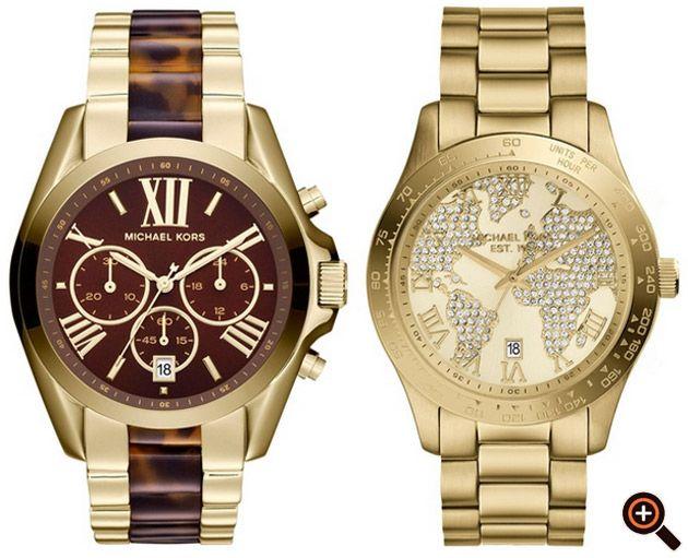 Mk Uhren Silber Gold Modeschmuck