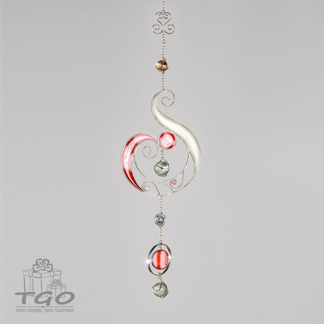Formano Fensterschmuck Dekohanger Rosa Tiffany Art 52cm