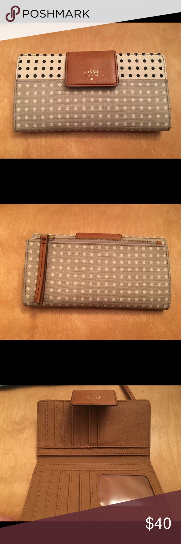 Fossil Wallet Used but in great condition as shown, only scuffs that are on it are shown on the flap Fossil Bags Wallets