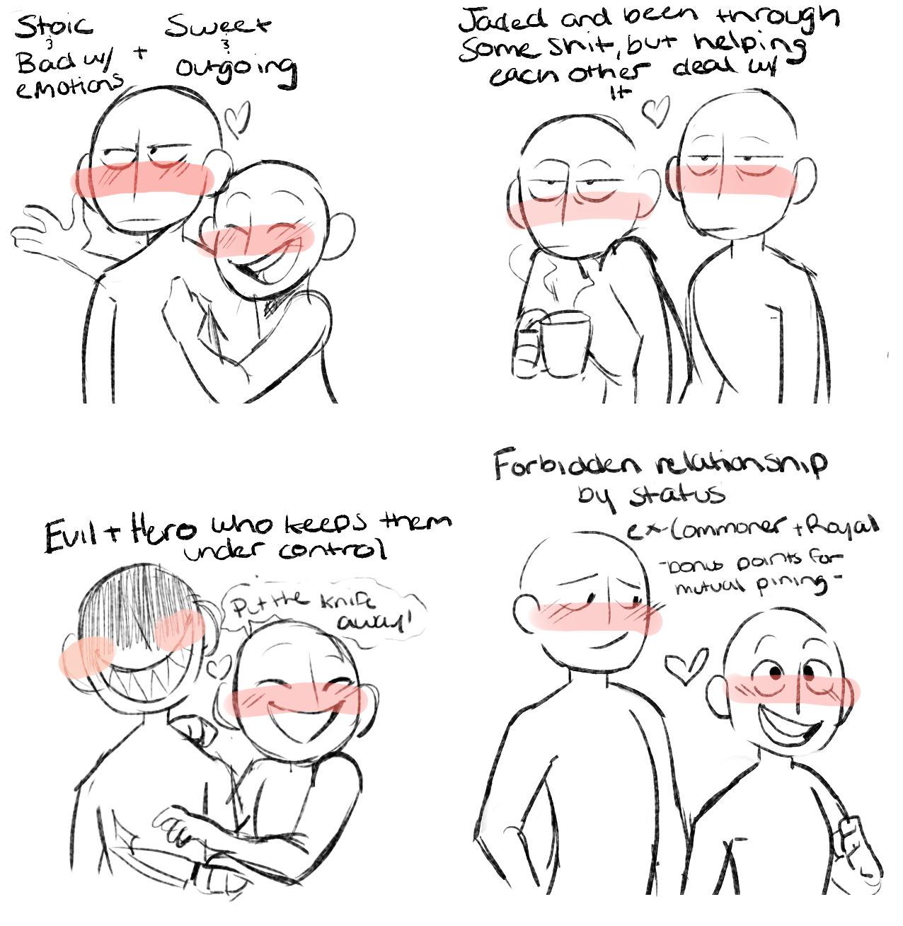 Trending Shipping tropes Art reference poses