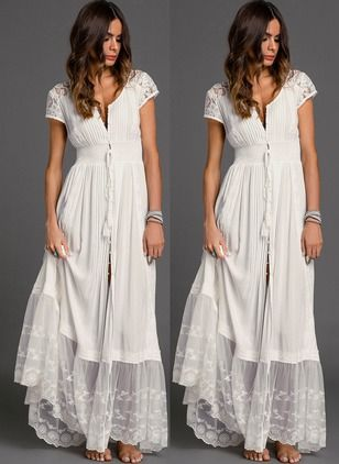 Black Friday Casual Solid Embroidery Peasant Shift Dress In