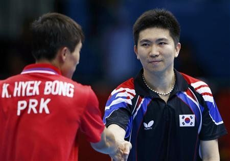 North Korean and South Korean table tennis players shake hands after South Korea won (and NBC didn't cover it at all)