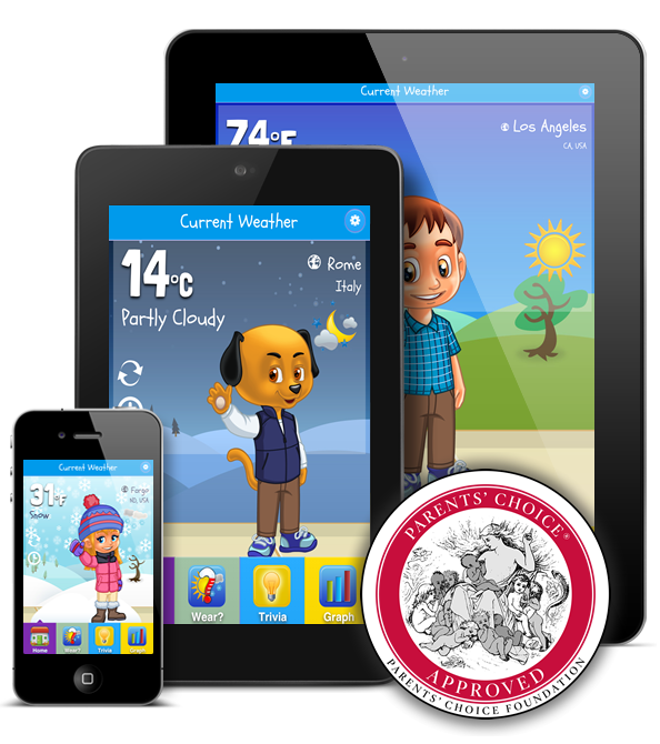 Explore The Kid Weather App On Apple And Android. This