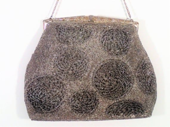 Photo of Here is the Perfect Black Metallic Beaded Evening Bag for th…
