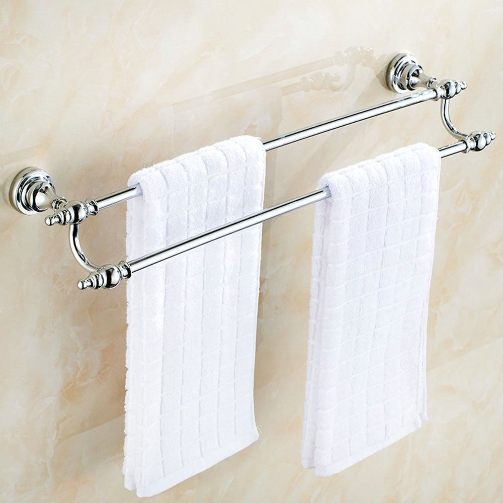 Handtuchstange Doppelt Bad Aus Messing Verchromt Handtuchregal