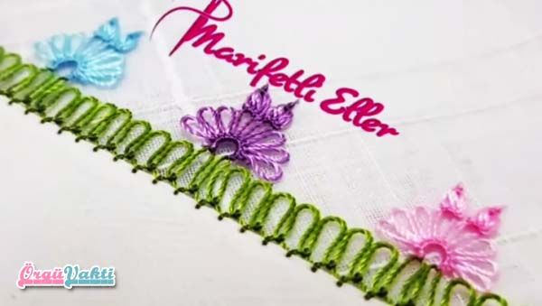 İğne Oyası Elifin Çiçek Modeli Yapımı Videolu Anlatımlı