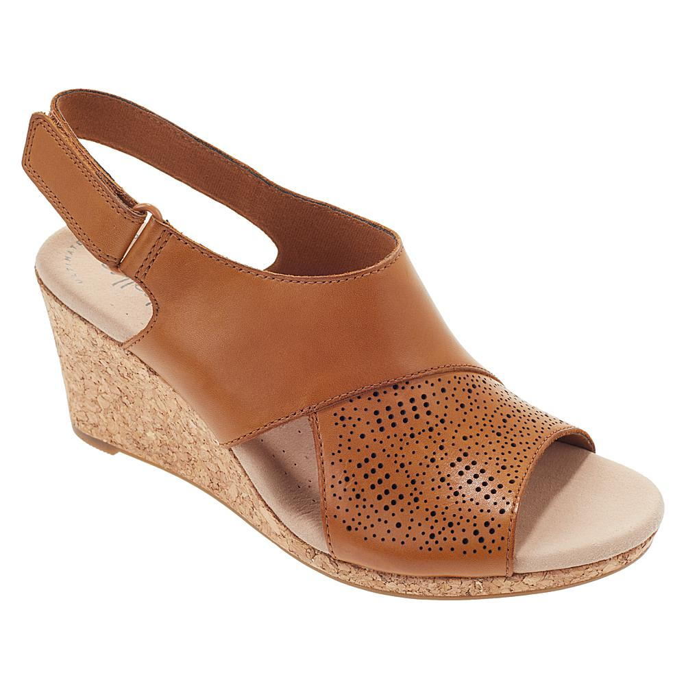 exclusive! Collection by Clarks Lafley Joy Leather Cork Wedge Sandal