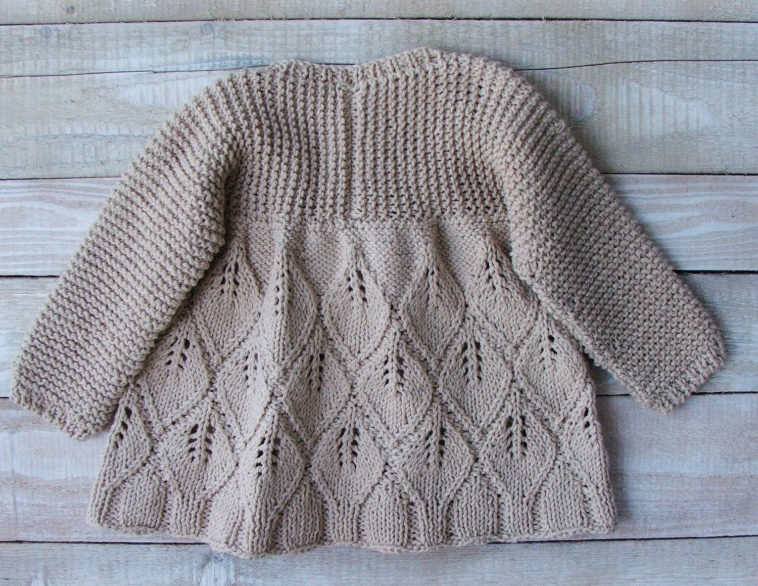 Reserved for B. T. - Hand Knitted Beige Cotton Sweater Size 2T ...