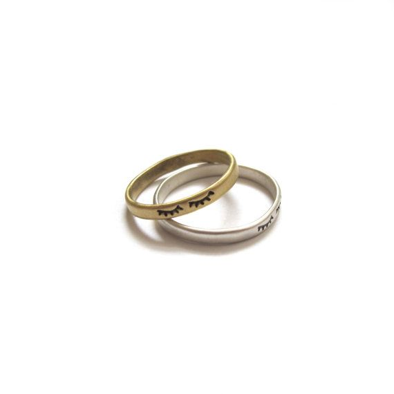 NAPTIME Handmade Ring in Brass or Sterling Silver by goldeluxe