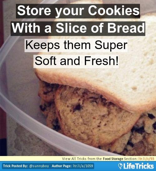 Armazenamento de Alimentos - Mantenha seu cookies Macio e Chewy