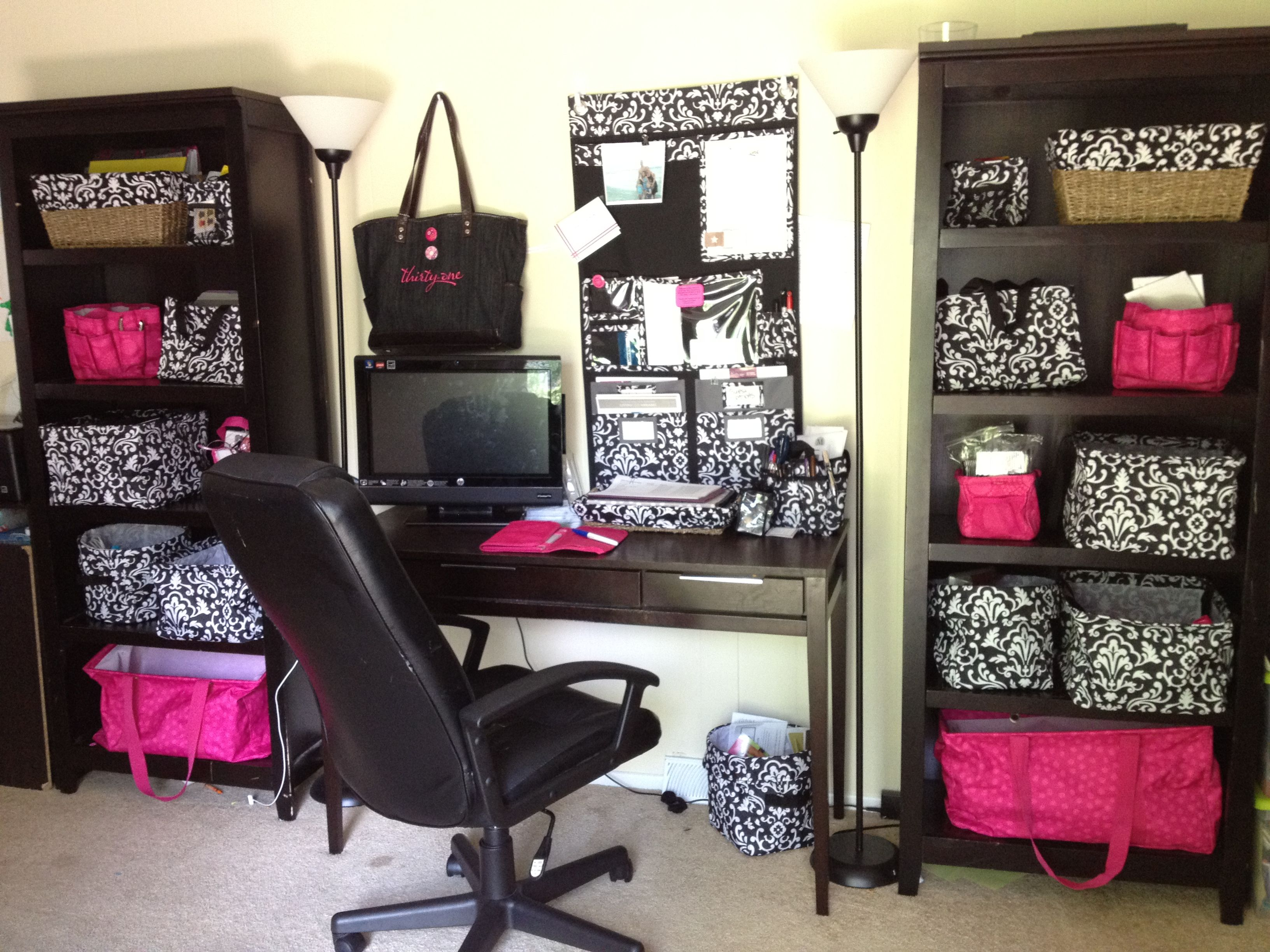 Thirtyone home office organized with thirtyone craft room ideas