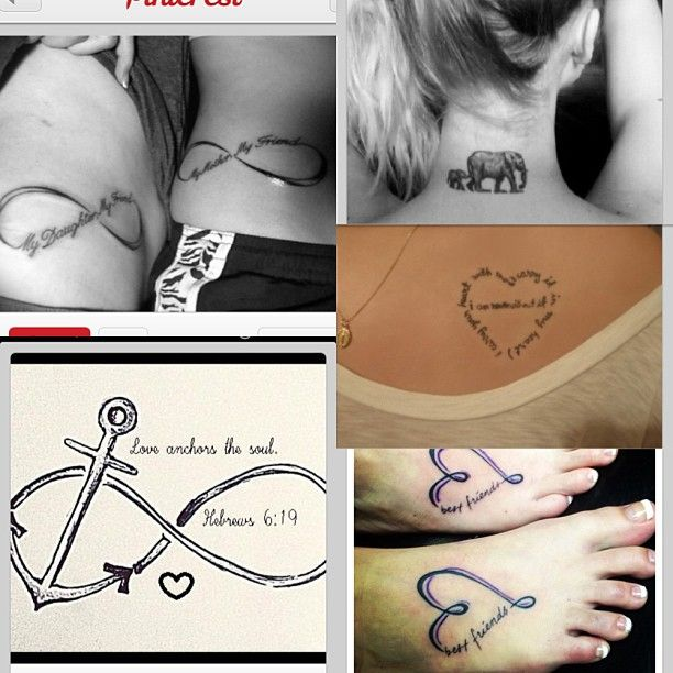 50 Truly Touching Mother Daughter Tattoo Designs: Avec L'ancre De Bateau Et Le Nom De Mes Fils