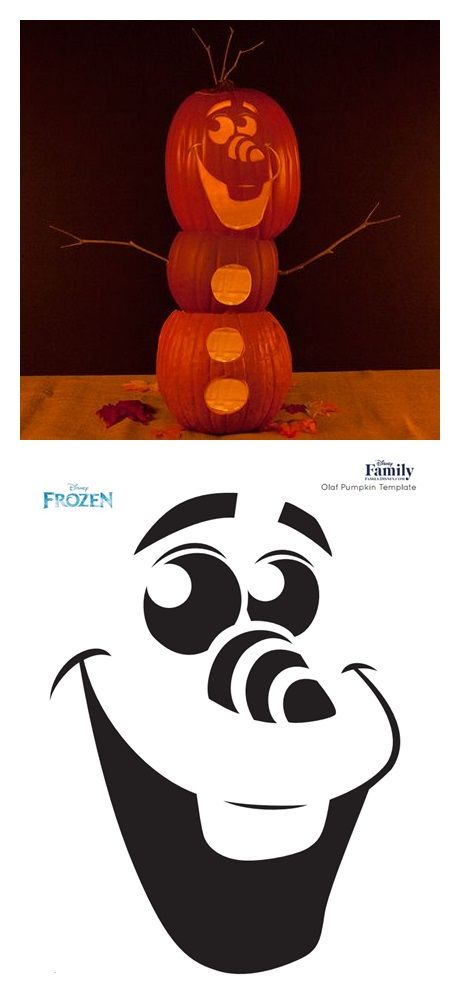 olaf pumpkin carving template k rbis und schnitzerei. Black Bedroom Furniture Sets. Home Design Ideas