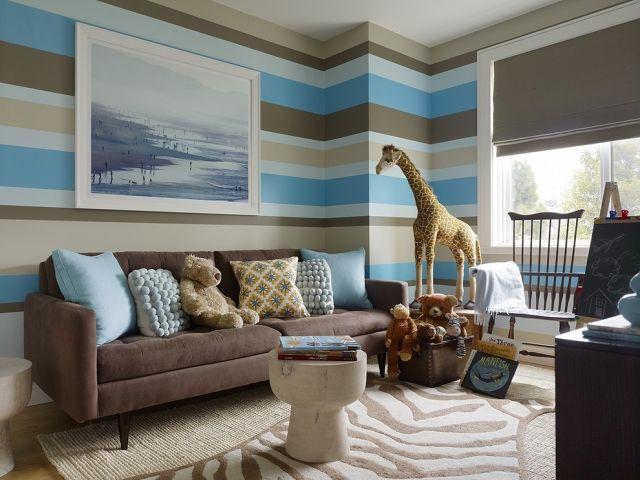 Ideen Für Wand Streifen   Ein Beliebtes Designelement Zuhause