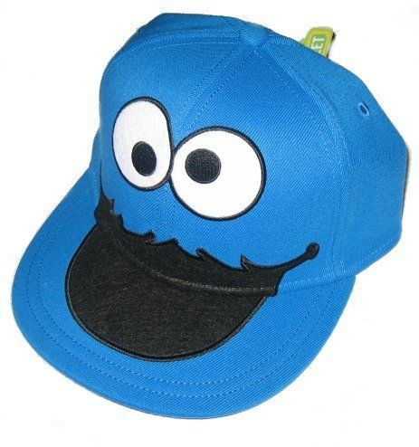 482469d8 Sesame Street Cookie Monster Face Fitted Flat-bill Hat $22.44 | My ...