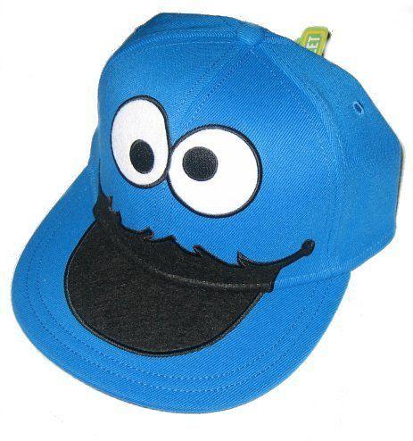 d00614c836de1 Sesame Street Cookie Monster Face Fitted Flat-bill Hat  22.44