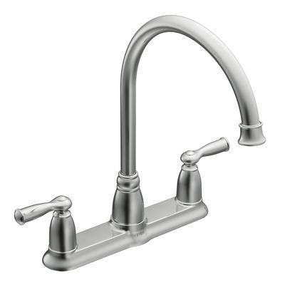 Moen Banbury 2 Handle Kitchen Faucet Chrome Finish 87001