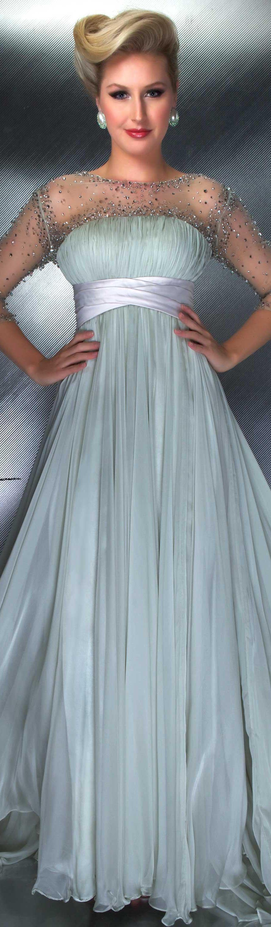 Mac Duggal couture dress sage COUTURE DRESSES  STYLE 55003D