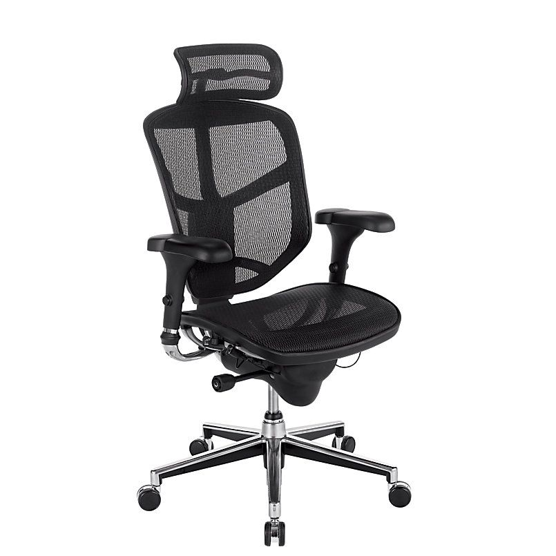 Workpro Quantum 9000 Series Ergonomic Mesh High Back Chair With Headrest Black By Office Depot Officemax