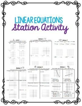 Pin On Algebra 1 Unit 4 Graphing Linear Equations