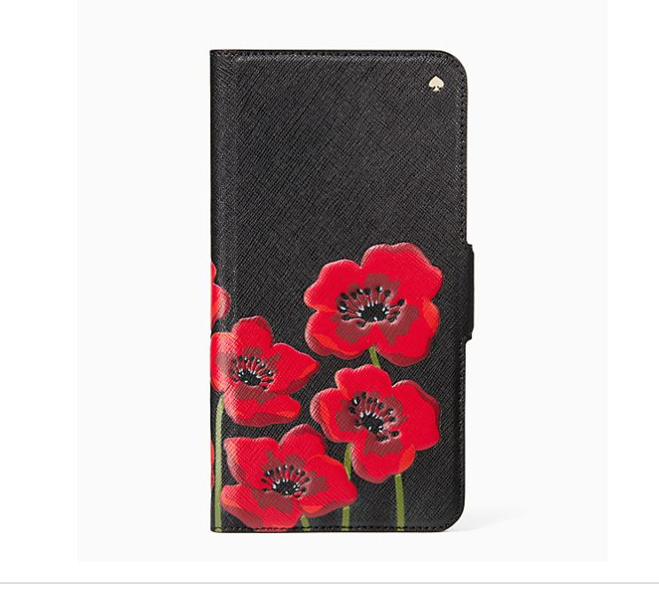 Kate spade large poppies wrap folio case for iphone 8 plus