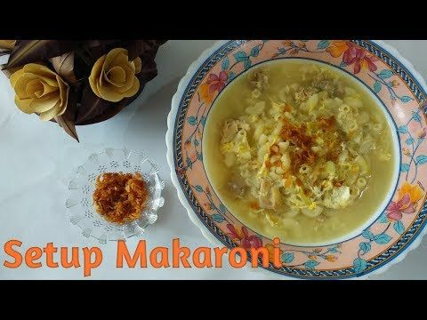 Resep Setup Makaroni Youtube Resep Masakan Masakan Resep