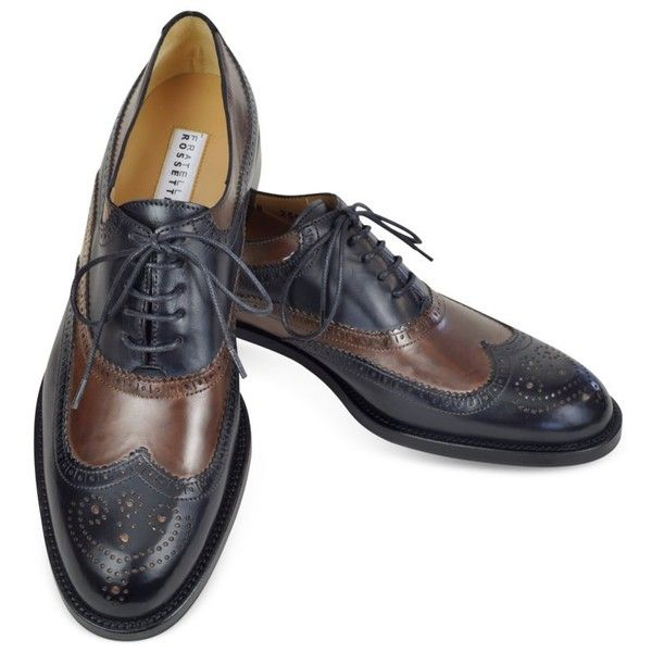 Fratelli Rossetti Two-tone Wingtip Oxford ( 225) ❤ liked on Polyvore  featuring shoes 00fa19b716da