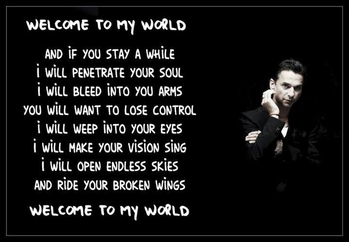 Depeche Mode Welcome To My World Depeche Mode Dave Gahan Music Book