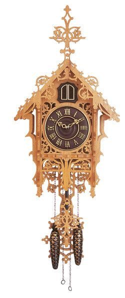 A 60 Monster Antique Musical Black Forest Hunter Cuckoo Clock