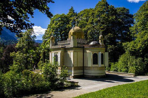 Schlosspark Linderhof Maurisches Kiosk Linderhof Schloss Linderhof Schlosspark