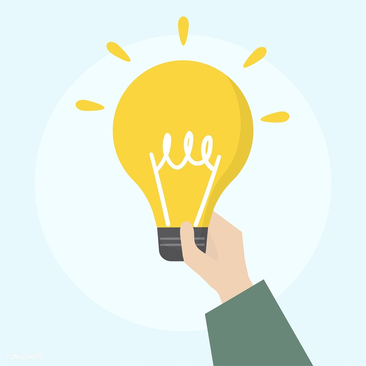 Illustration Of Light Bulb Icon Free Image By Rawpixel Com Light Bulb Icon Illustration Graphic Design Background Templates