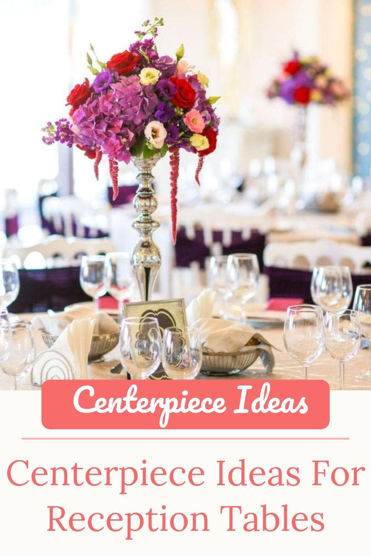 Centerpiece Ideas For Reception Tables Simple Centerpieces Reception Table Non Floral Centerpieces