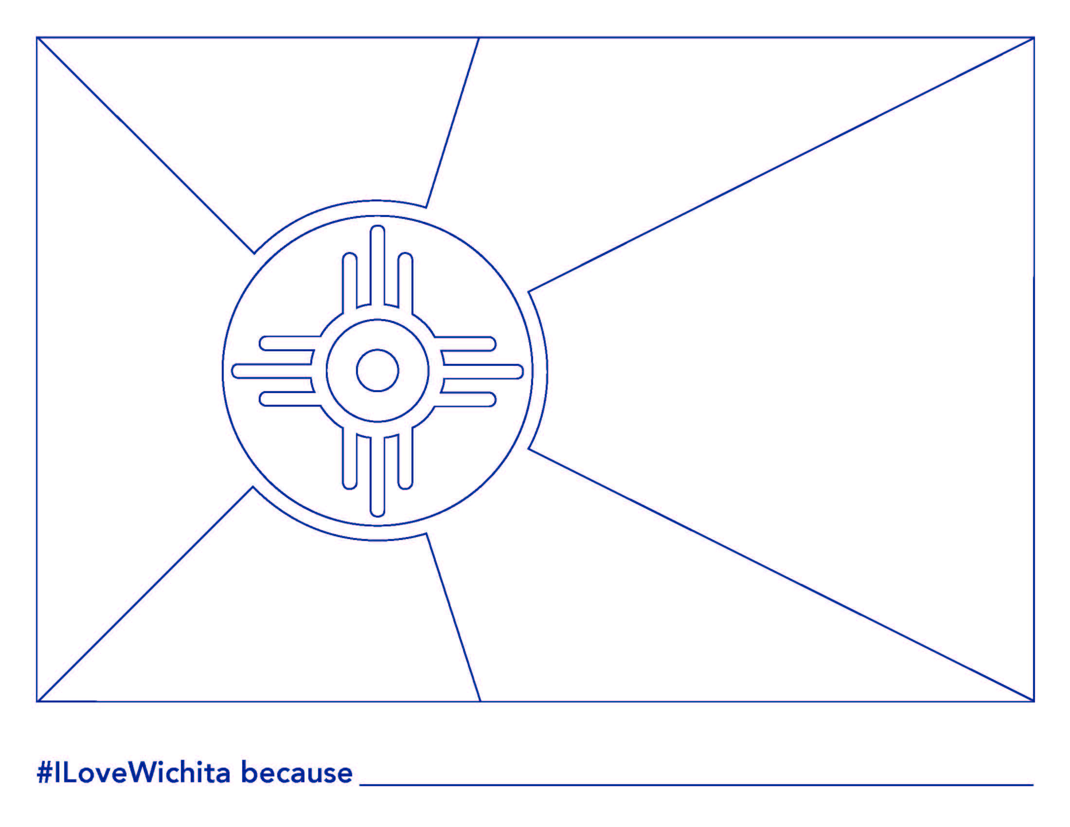 Wichita Flag Coloring Sheet Page 1 2 200 1 700 Pixels