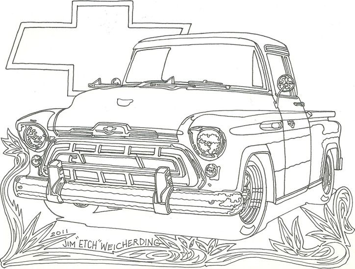 Free Coloring Pages Of Chevrolet Truck With Images Cars