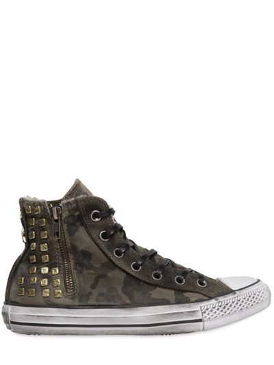 0a9b7b71d7426f CONVERSE - GOLD STUDDED CAMO HIGH TOP SNEAKERS Converse Gold