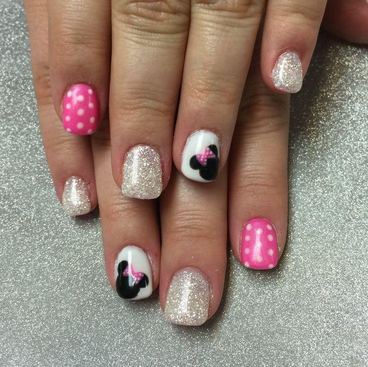 Disney Minnie Nails Nail Design Nail Art Nail Salon Irvine