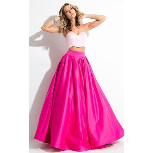 Fuchsia Long Strapless Dresses