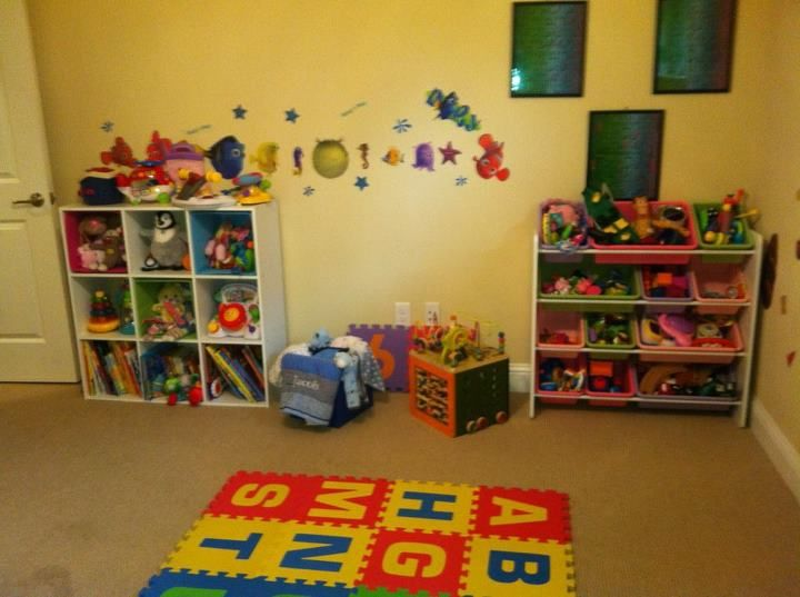 the playroom before...