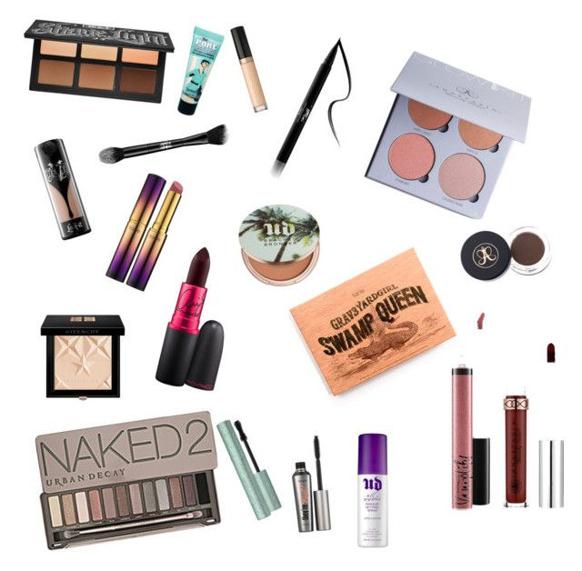 """""""Makeup wish list"""" by emily283060 ❤ liked on Polyvore featuring beauty, Kat Von D, MAC Cosmetics, Urban Decay, Too Faced Cosmetics, Benefit, Givenchy, Anastasia Beverly Hills and tarte"""