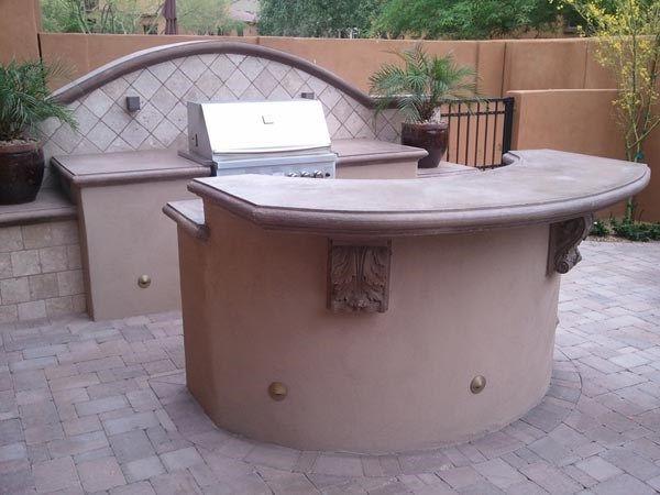 Bbq Counter, Bbq Bar Outdoor Kitchen Lone Star Landscaping Phoenix, AZ - Bbq Counter, Bbq Bar Outdoor Kitchen Lone Star Landscaping Phoenix