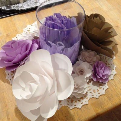 Any Size Cardstock Paper Flower Tutorial Feature Wall Paper