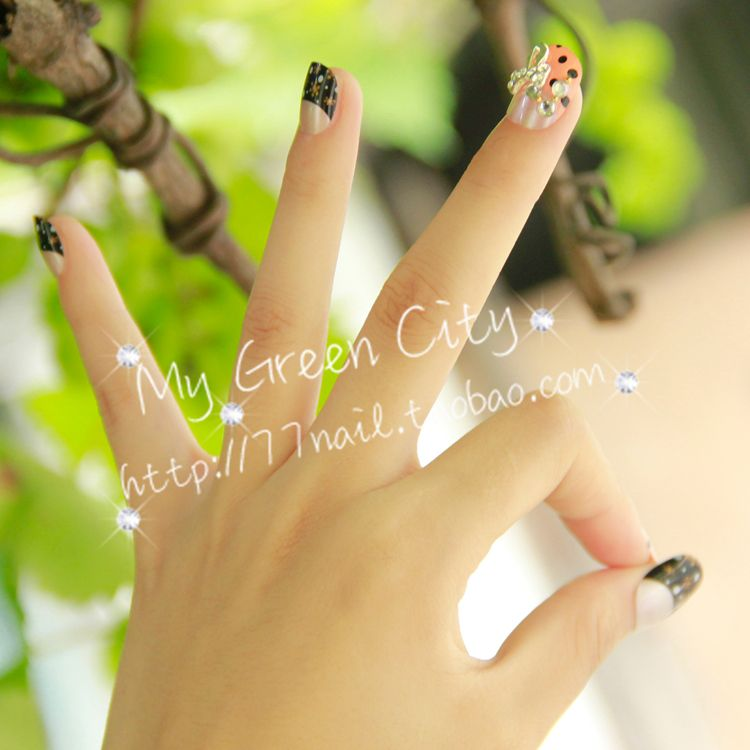 Aliexpress.com : Buy 24 false nail . powder black , honey from Reliable matte nail polish suppliers on Jessie's shop. $7.38